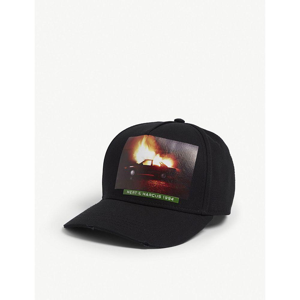 ディースクエアード dsquared2 acc メンズ 帽子 キャップ【mert & marcus cap】Black