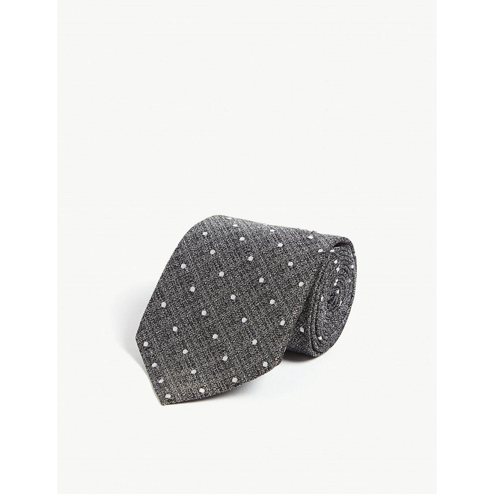 トム フォード tom ford メンズ ネクタイ【polka dot silk tie】Grey
