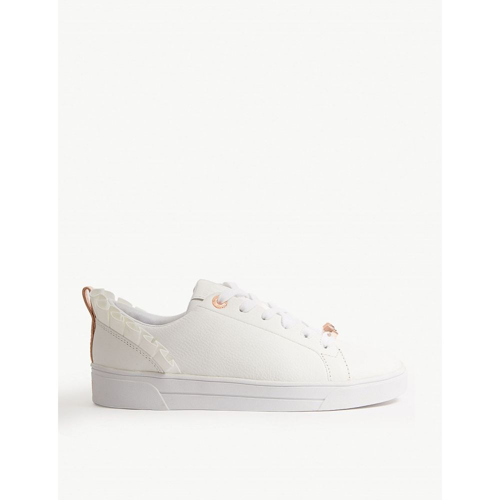 テッドベーカー ted baker レディース テニス シューズ・靴【astrina ruffled leather tennis trainers】White