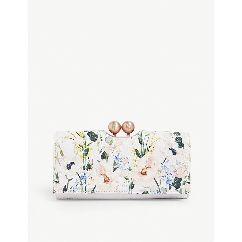 テッドベーカー ted baker レディース 財布【clarita elegant print bobble clasp leather purse】Nude-pink