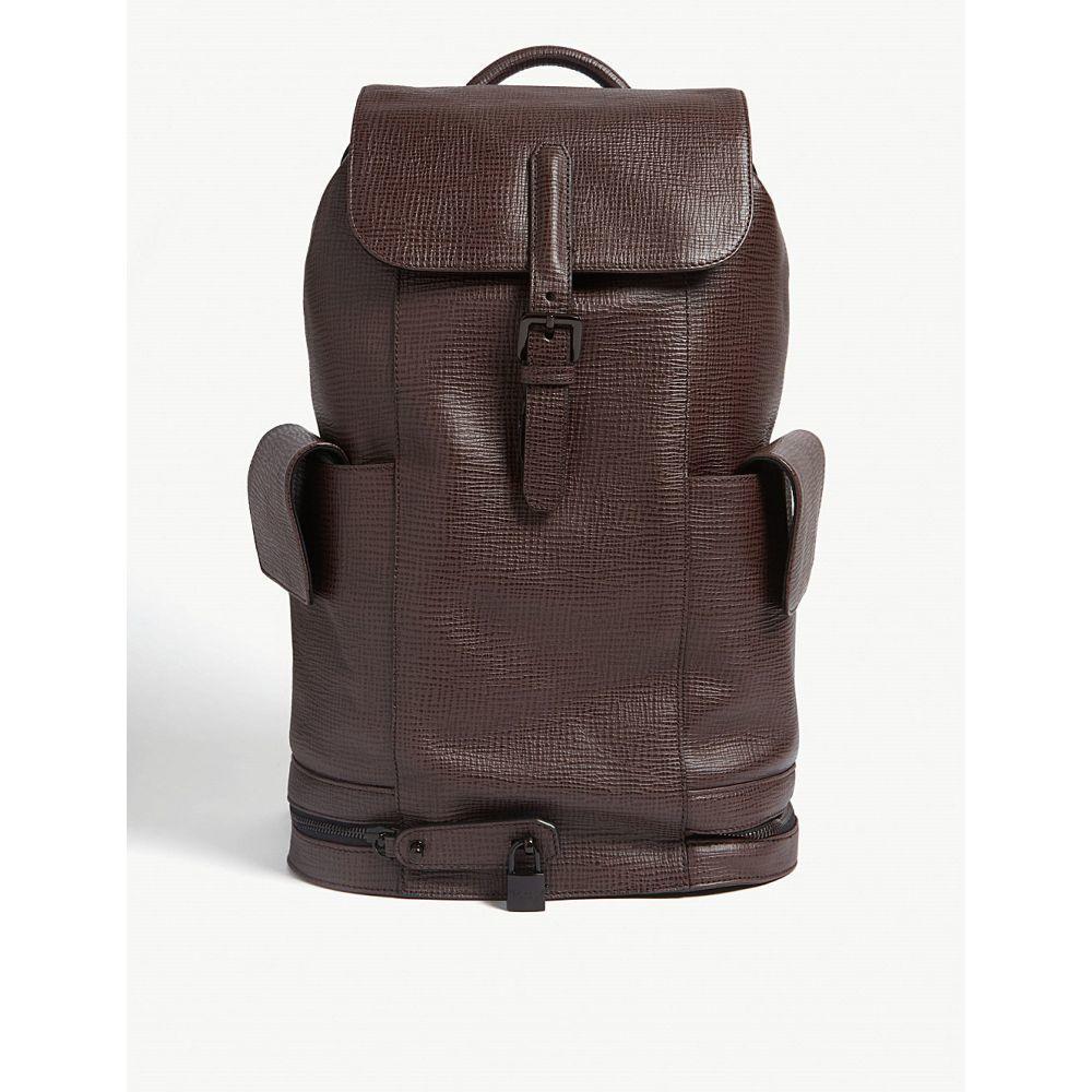 テッドベーカー ted baker メンズ バッグ バックパック・リュック【eaton palmellato leather backpack】Dk-red