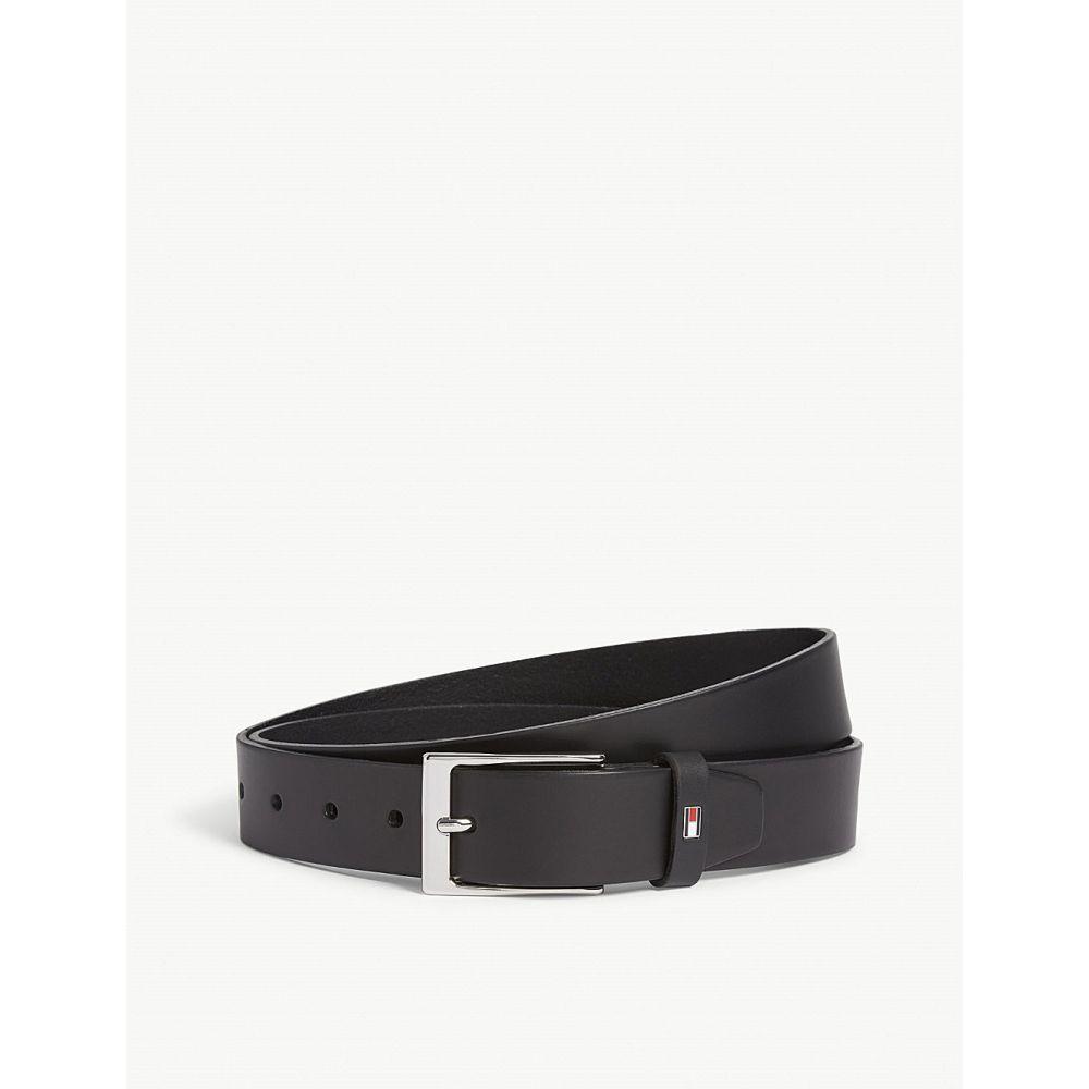 トミー ヒルフィガー tommy hilfiger メンズ ベルト【layton leather belt】Black