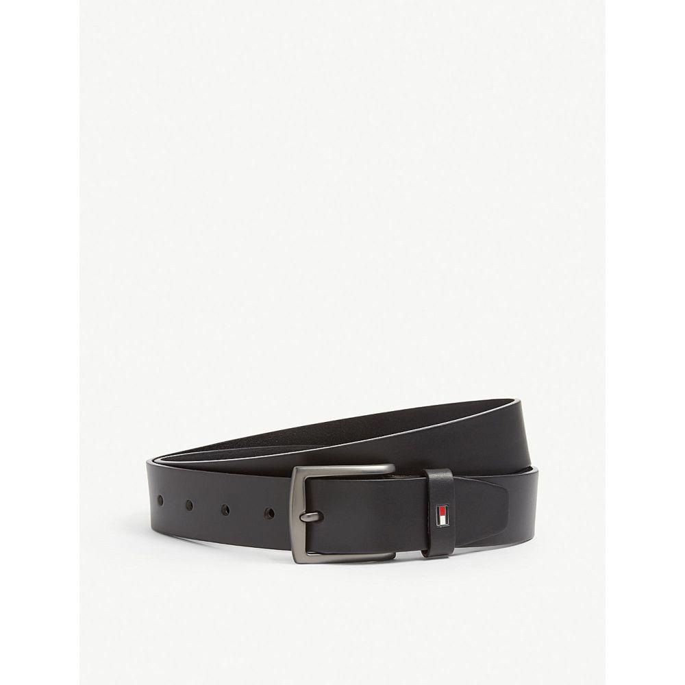 トミー ヒルフィガー tommy hilfiger メンズ ベルト【denton leather belt】Black