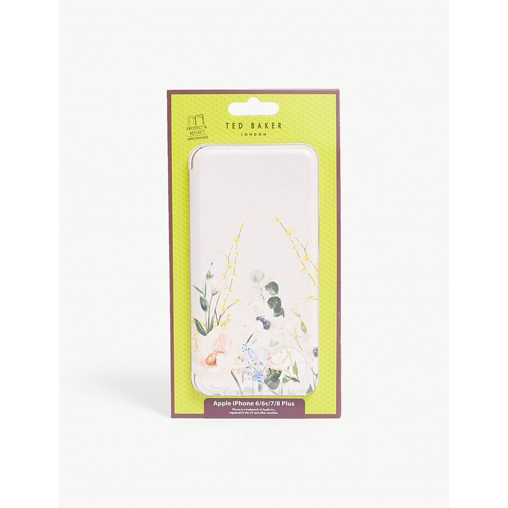 テッドベーカー ted baker レディース iPhone (8 Plus)ケース【qweeni iphone 6/6s/7/8 plus folding case】Nude-pink
