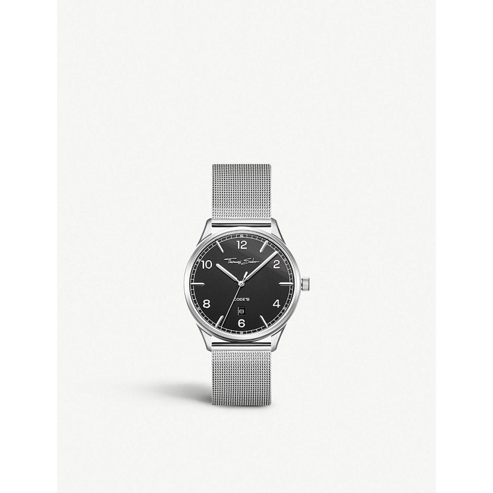 トーマスサボ thomas sabo メンズ 腕時計【wa0339201203 code ts stainless steel watch】Dial black