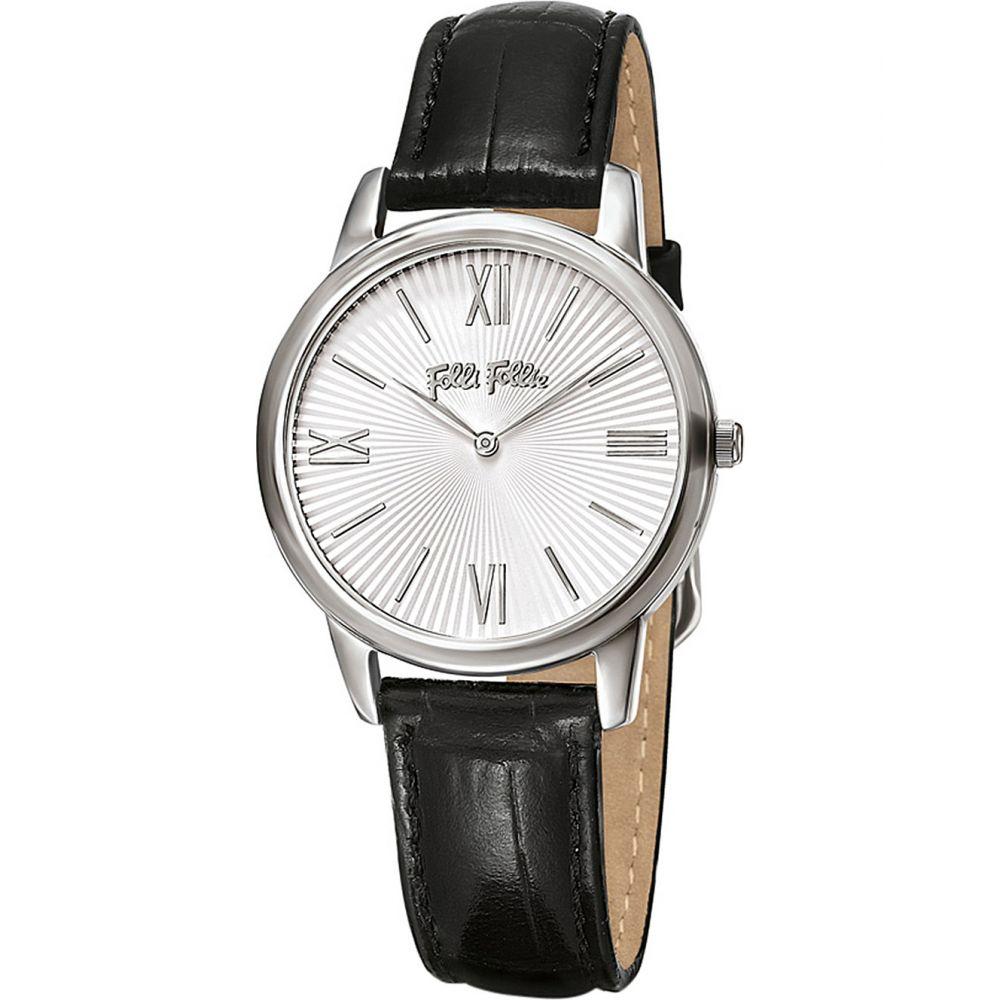 フォリフォリ folli follie レディース 腕時計【match point small stainless steel and leather watch】Silver