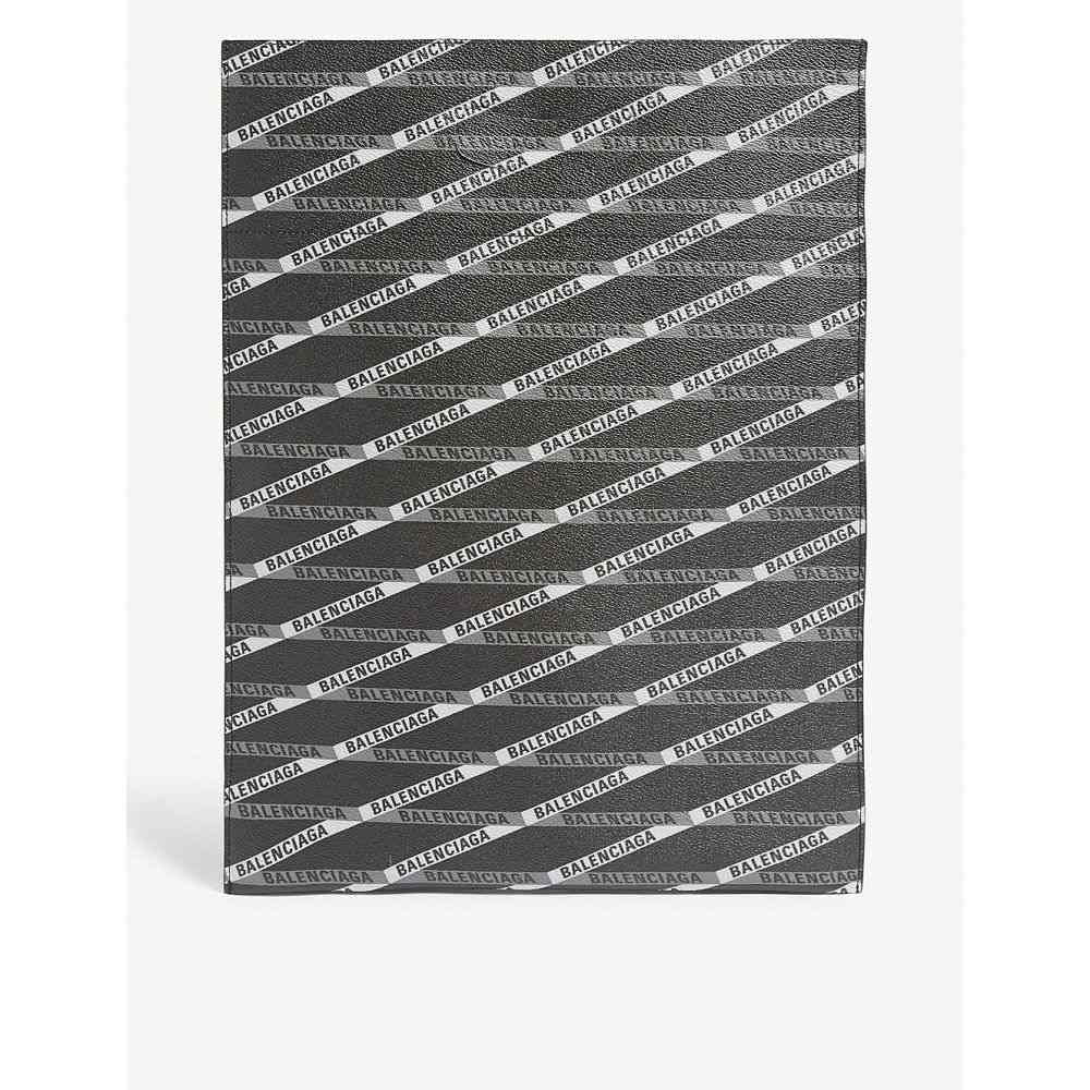 バレンシアガ balenciaga メンズ バッグ トートバッグ【banner logo leather shopper bag】Grey