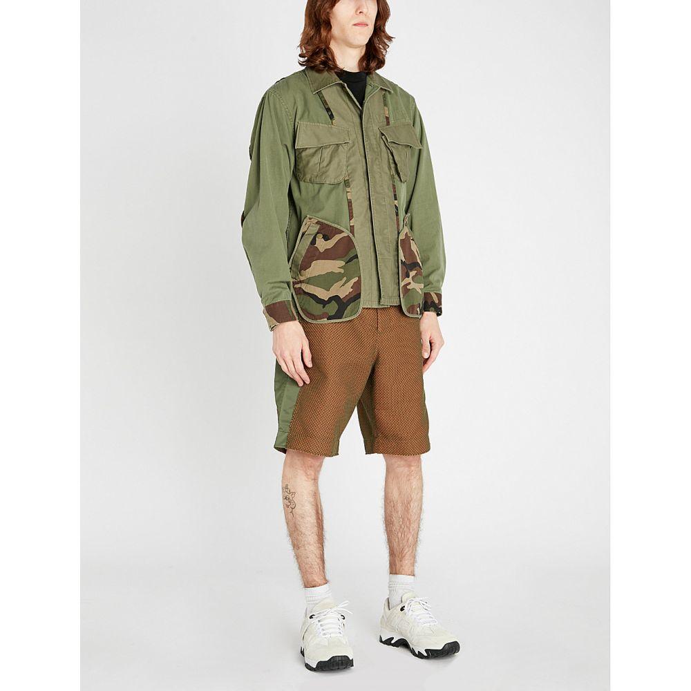 ファセッタズム facetasm メンズ アウター ジャケット【camouflage-print cotton-twill jacket】Khaki