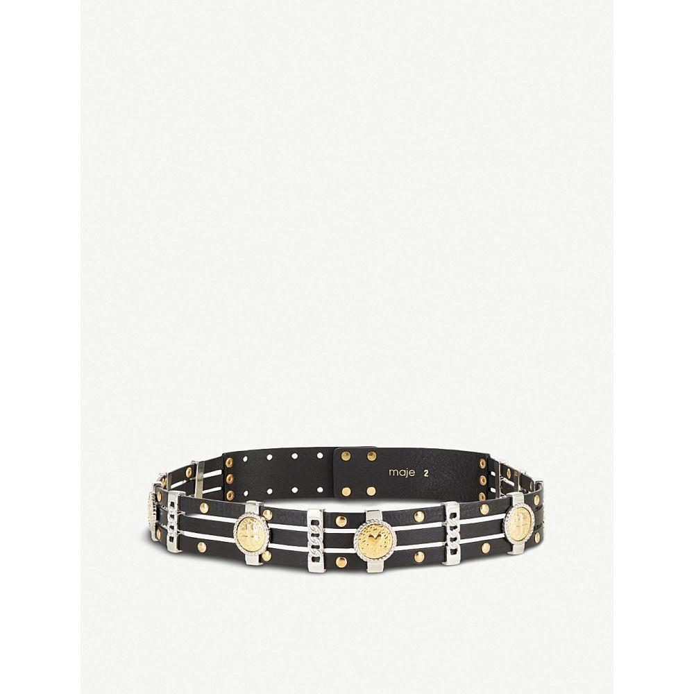 マージュ maje レディース ベルト【amini leather belt】Black 210