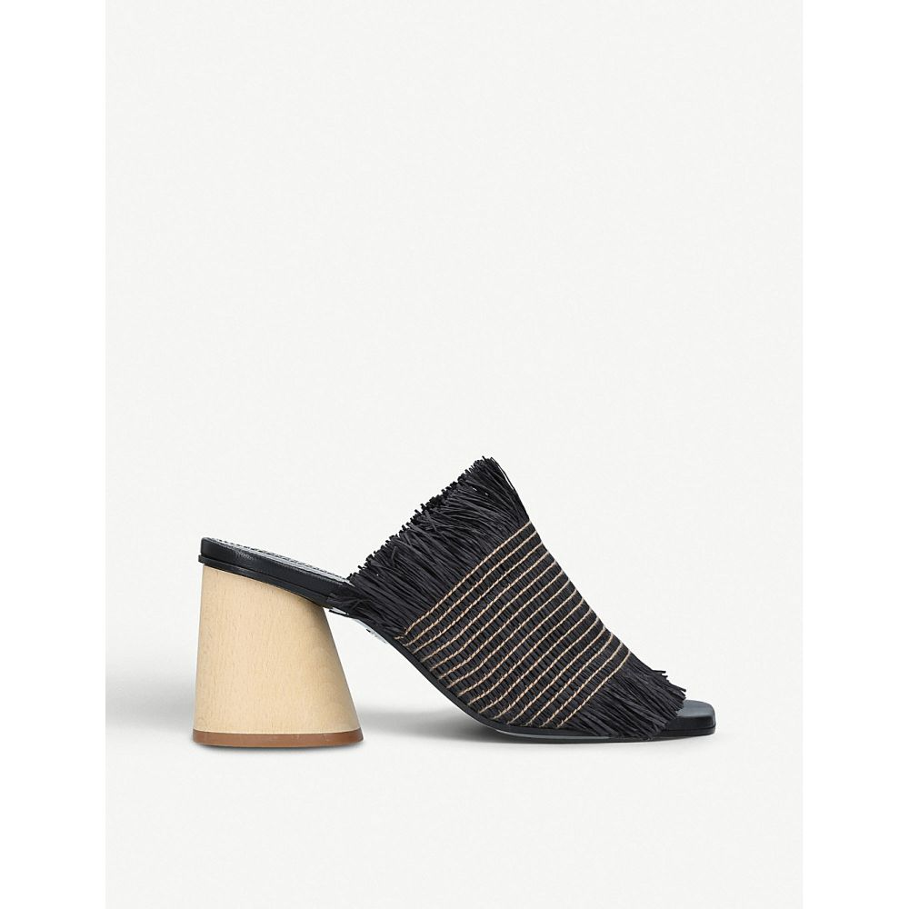 プロエンザ スクーラー proenza schouler レディース シューズ・靴 サンダル・ミュール【fray wood-heeled mules】Black
