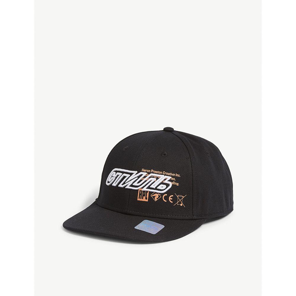 ヘロン プレストン heron preston メンズ 帽子 キャップ【logo cotton baseball cap】Wht blk