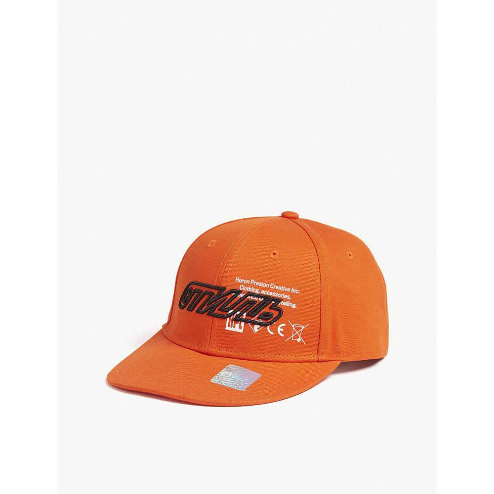 ヘロン プレストン heron preston メンズ 帽子 キャップ【logo cotton baseball cap】Org blk