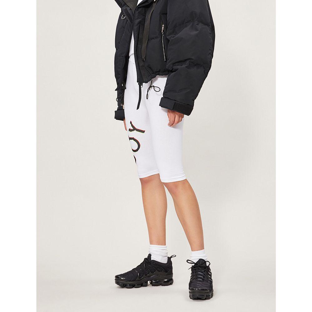 ボーイロンドン boy london レディース 自転車 ボトムス・パンツ【eagle glitch stretch-cotton cycling shorts】White