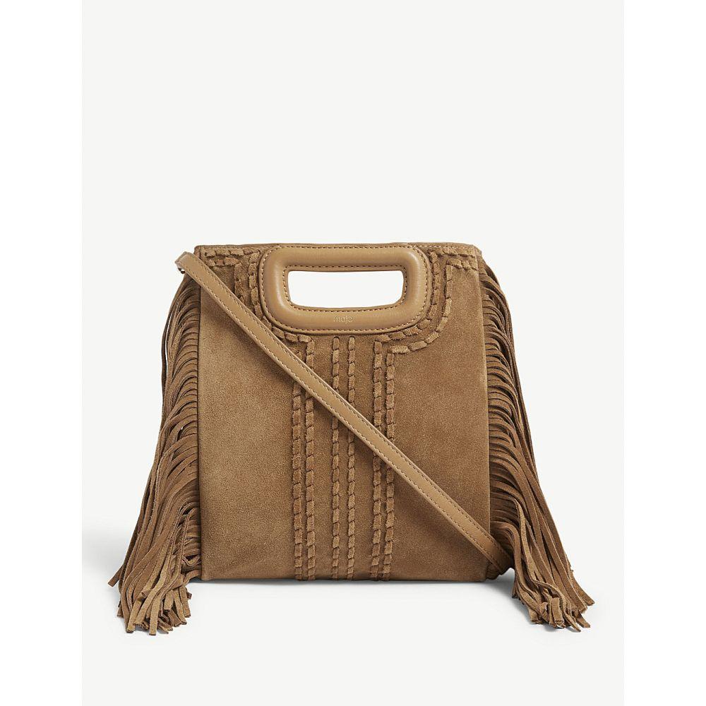マージュ maje レディース バッグ ショルダーバッグ【m suede shoulder bag】Camel