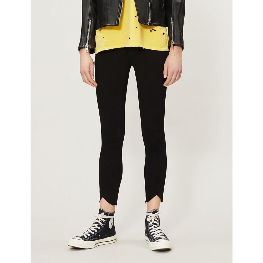 ペイジ paige レディース ボトムス・パンツ クロップド【hoxton crop fray skinny high-rise jeans】Black shadow