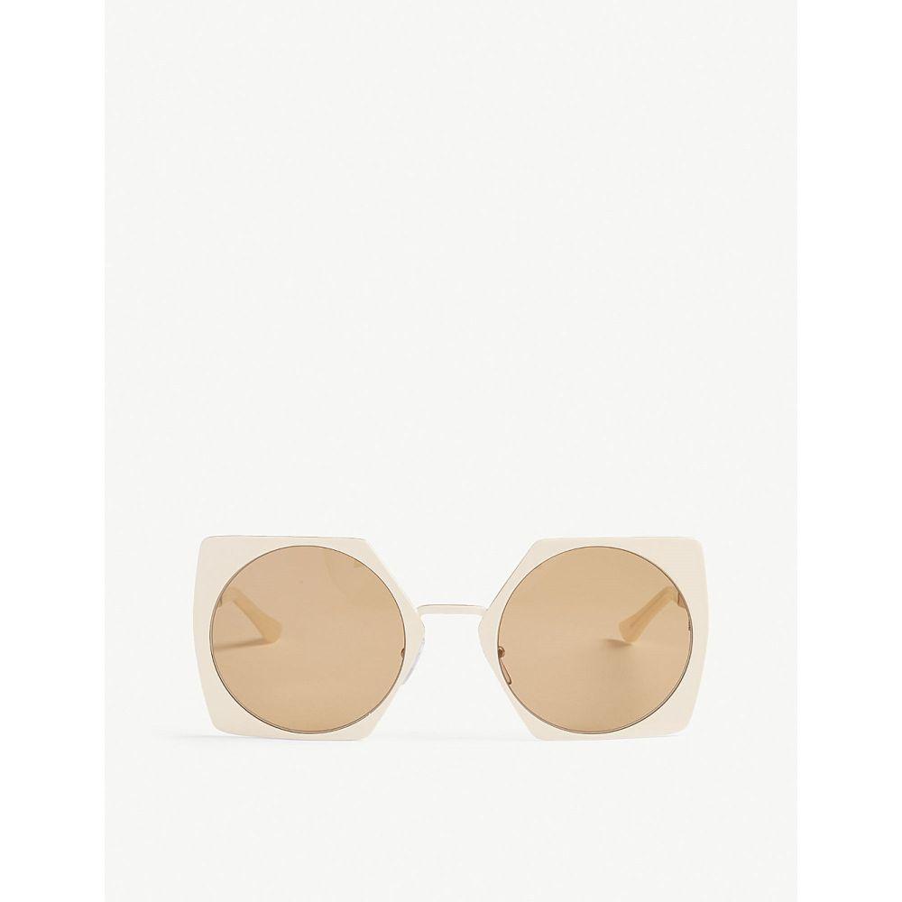 マルニ marni レディース メガネ・サングラス【me105s irregular-frame sunglasses】Ivory