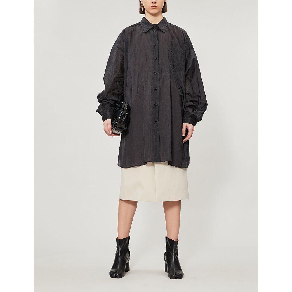 メゾン マルジェラ maison margiela レディース トップス ブラウス・シャツ【loose-fit shell shirt】Black