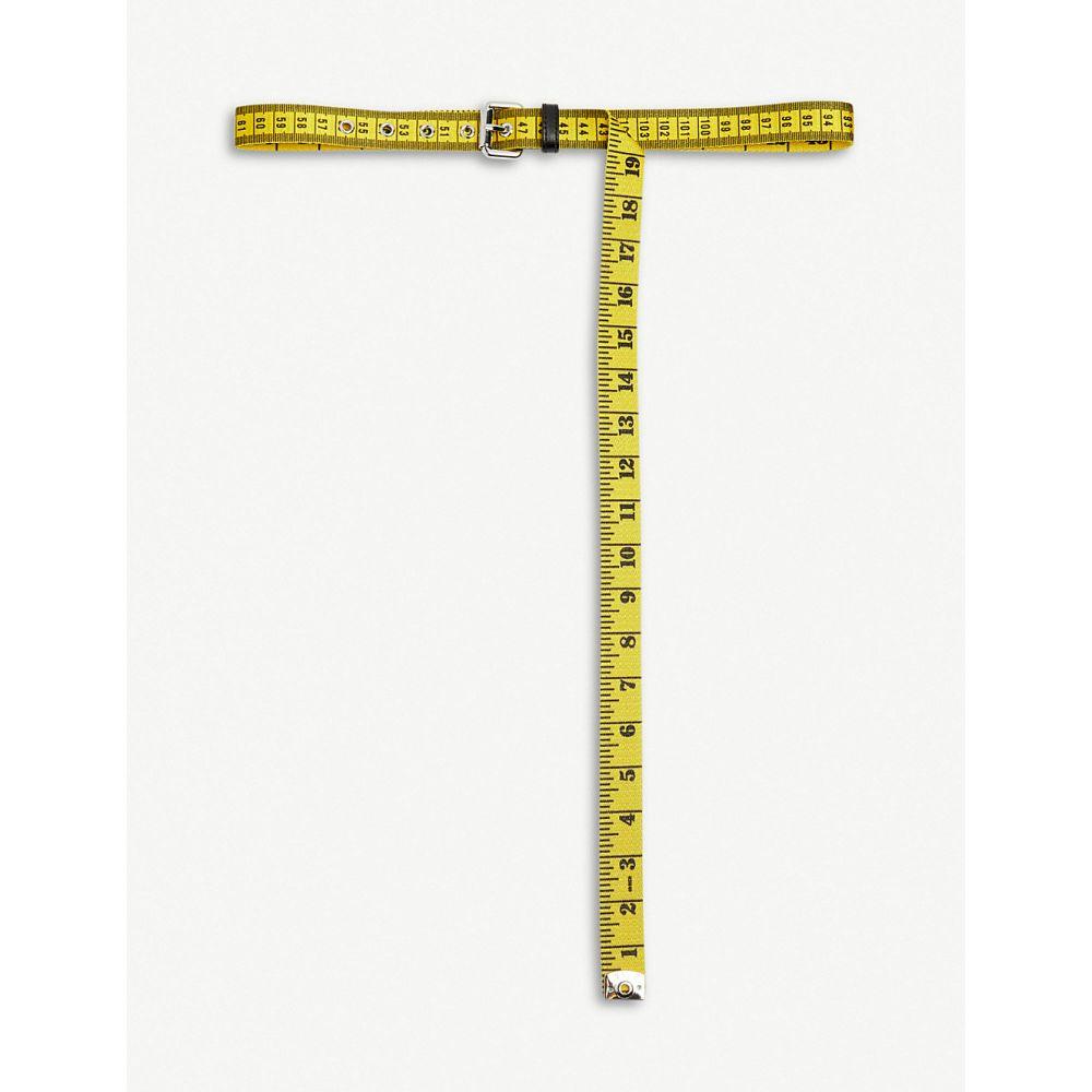 モスキーノ moschino レディース ベルト【metre belt】Yellow