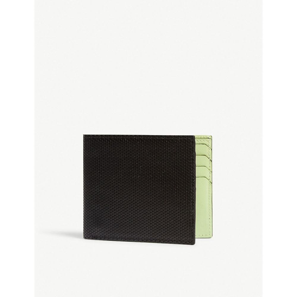 リチャード ジェームス richard james メンズ 財布【fade textured leather wallet】Aqua/ lime