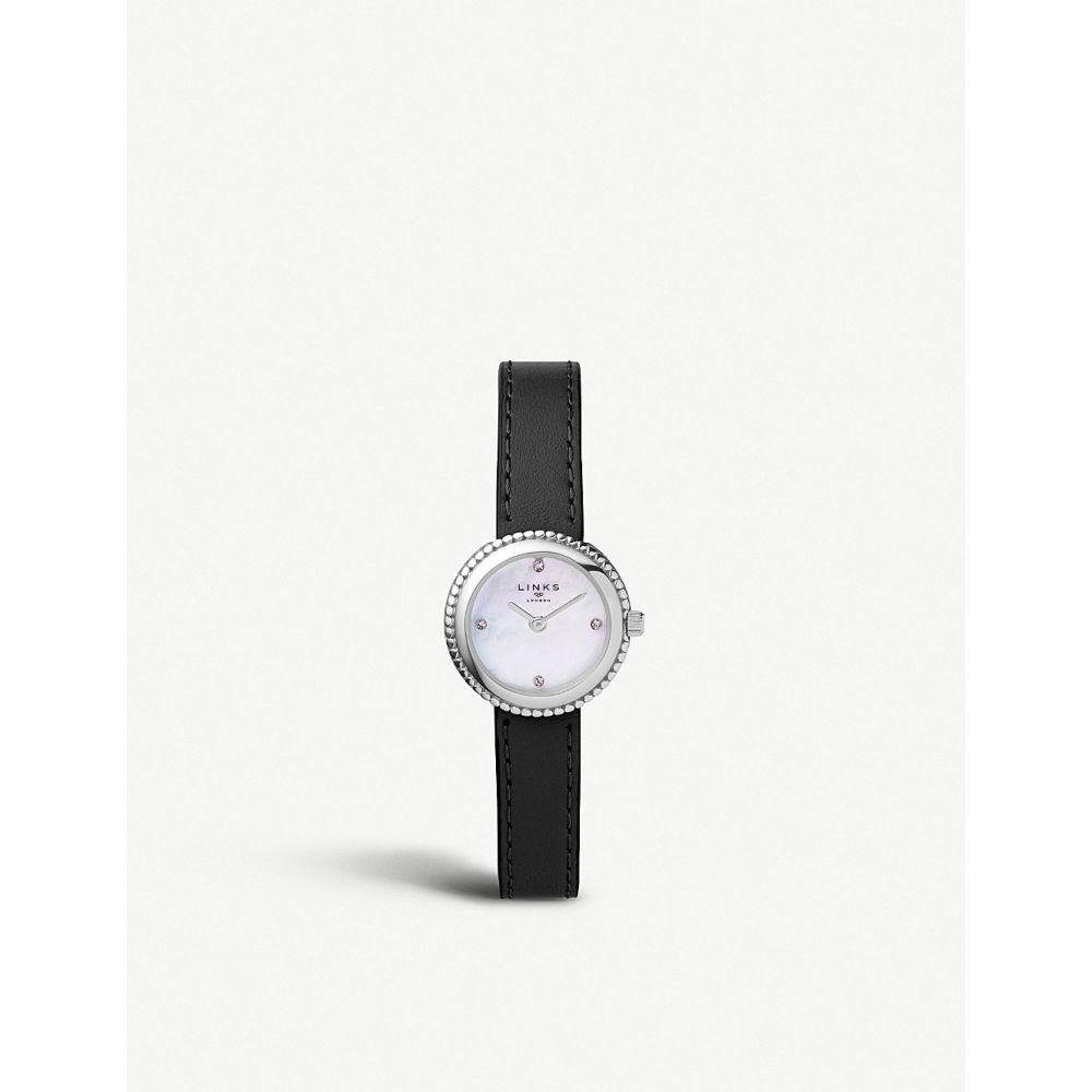 リンクス オブ ロンドン links of london レディース 腕時計【60102705 effervescence leather and mother-of-pearl watch】Black