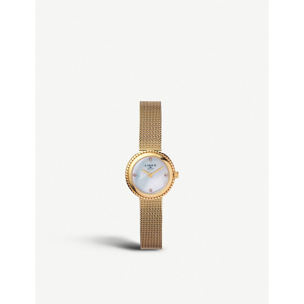 リンクス オブ ロンドン links of london レディース 腕時計【effervescence yellow-gold plated stainless steel chain watch】Gold