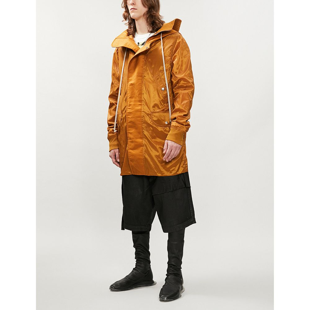 リック オウエンス rick owens drkshdw メンズ アウター コート【glossy shell hooded parka coat】Topaz