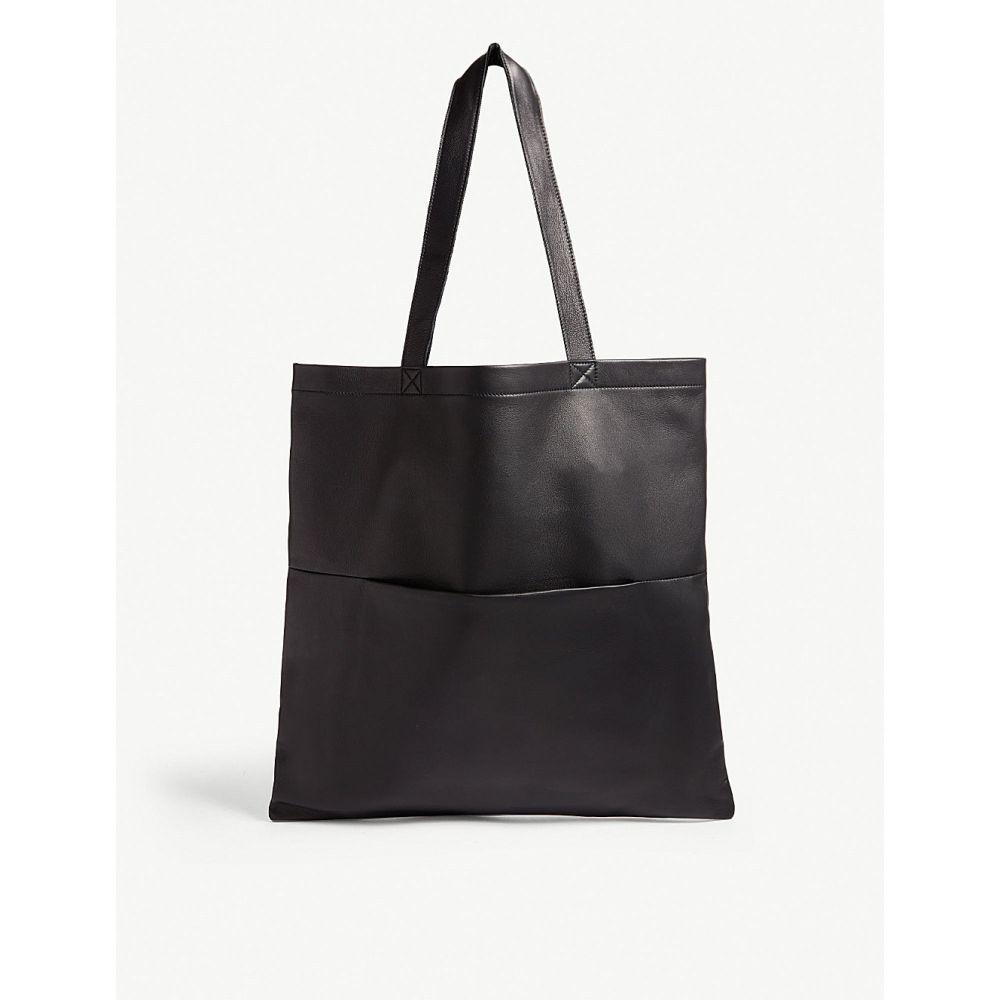 リック オウエンス rick owens メンズ バッグ トートバッグ【embossed logo large leather shopper tote】Black