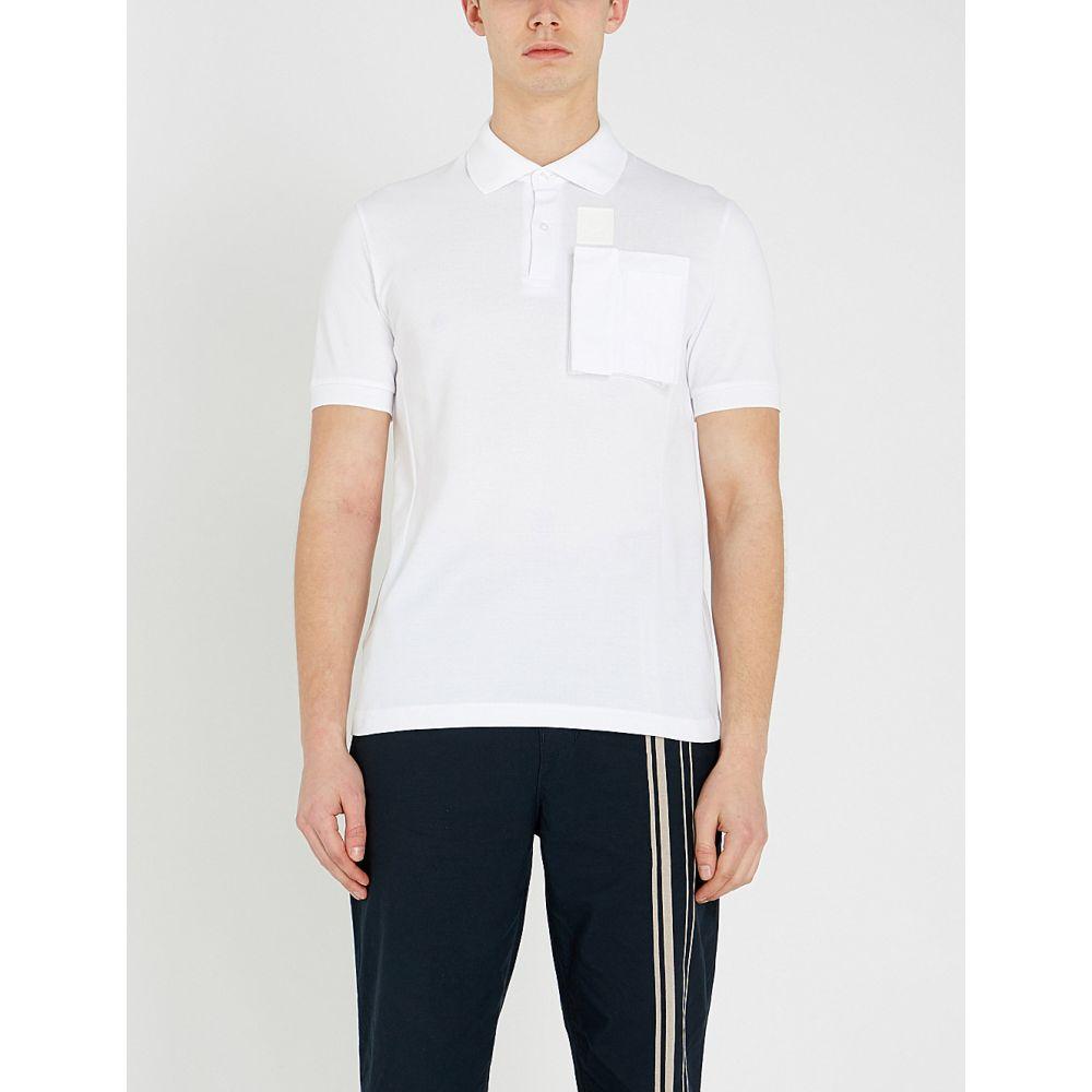 ラフ シモンズ raf simons x fred perry メンズ トップス ポロシャツ【patch-pocket cotton-pique polo shirt】White