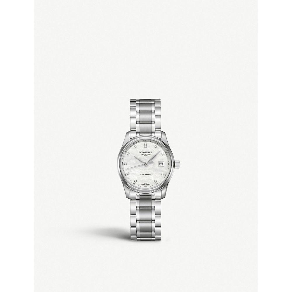 ロンジン longines レディース 腕時計【l2.257.4.87.6 master automatic stainless steel watch】Mother-of-pearl