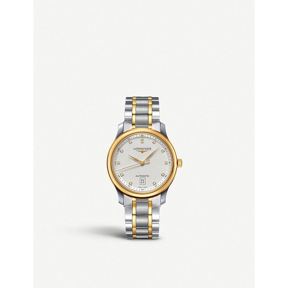 ロンジン longines メンズ 腕時計【l26285777 master 18ct yellow gold and stainless steel watch】Silver