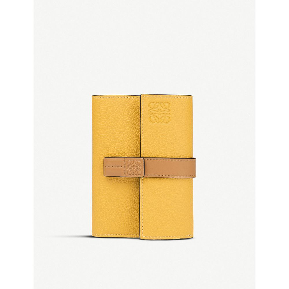 ロエベ loewe レディース 財布【small vertical calfskin wallet】Yellow mango/honey