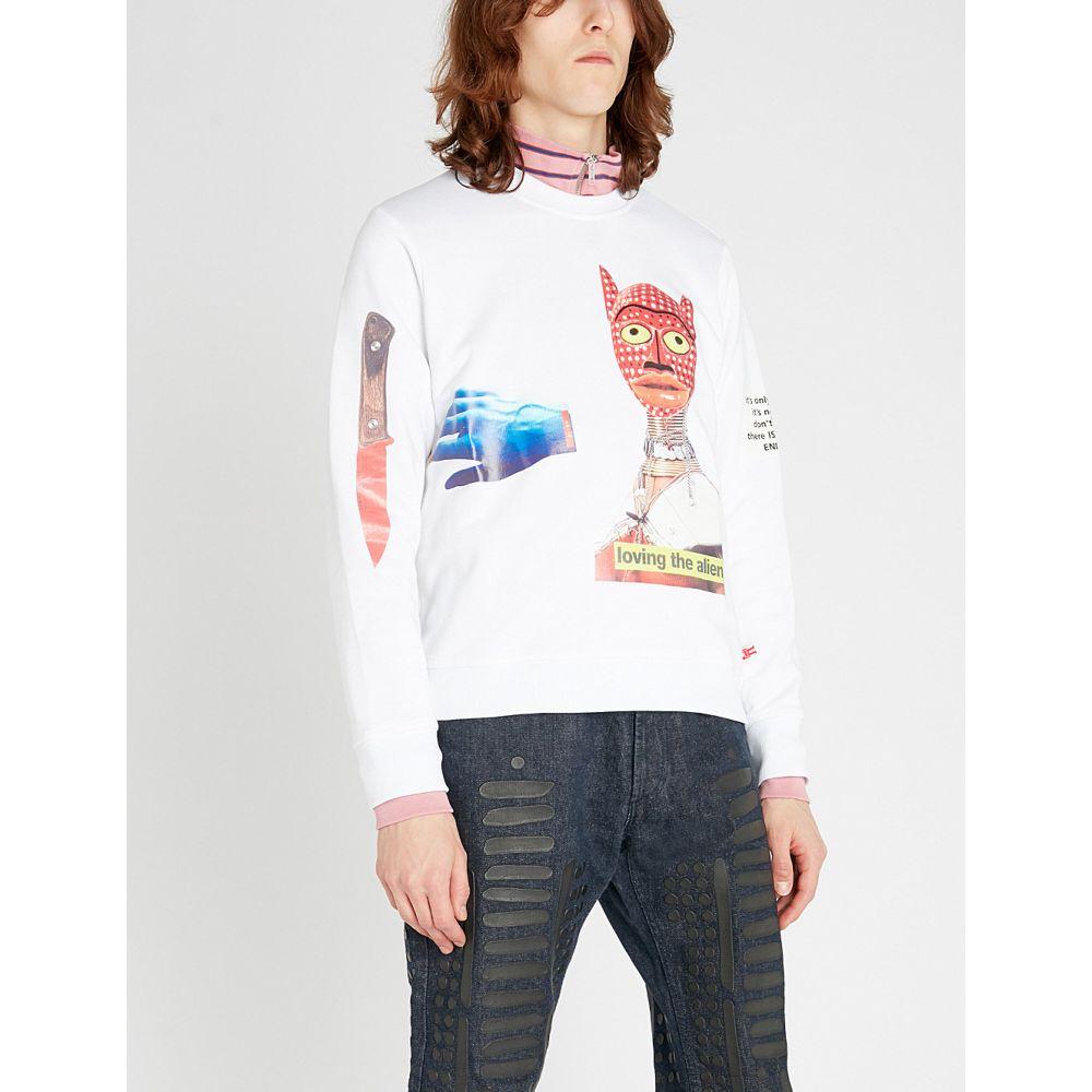 ウォルター ヴァン ベイレンドンク walter van beirendonck メンズ トップス スウェット・トレーナー【alien-print cotton-jersey sweatshirt】White