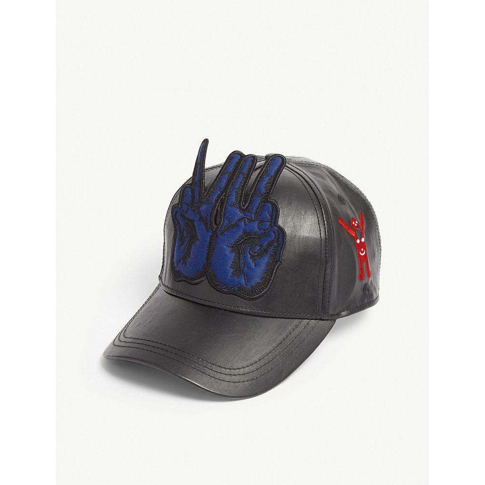 ウォルター ヴァン ベイレンドンク walter van beirendonck メンズ 帽子 キャップ【peace sign baseball cap】Black blue