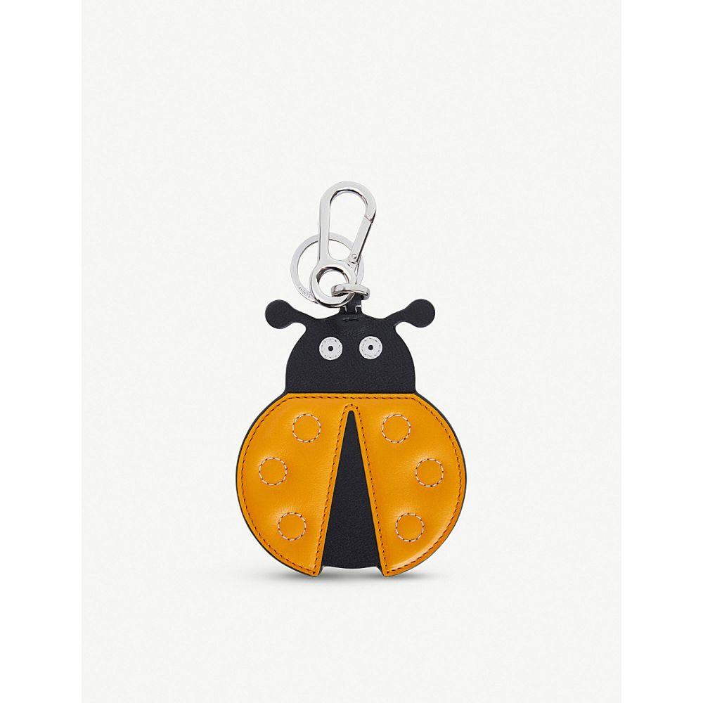 ロエベ loewe レディース キーホルダー【ladybug leather charm】Orange/black