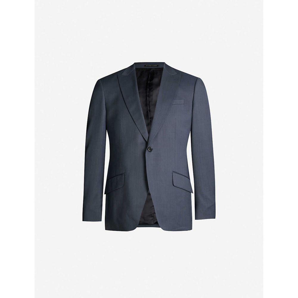 リース REISS メンズ アウター スーツ・ジャケット【Shark regular-fit wool blazer】Airforce blue