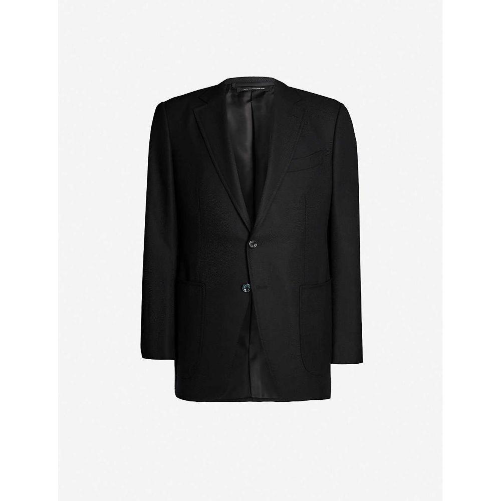 トム フォード TOM FORD メンズ アウター スーツ・ジャケット【Hopsack O Connor-fit wool and mohair-blend blazer】Black