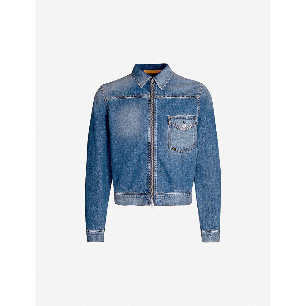 タイガー オブ スウェーデン TIGER OF SWEDEN メンズ アウター ジャケット【Ry zip-up denim jacket】Blue