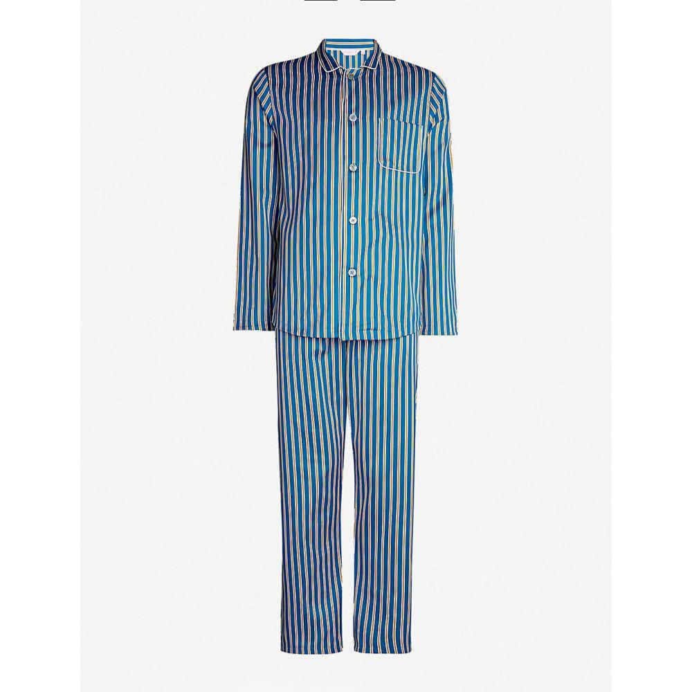 デリック ローズ DEREK ROSE メンズ インナー・下着 パジャマ・上下セット【Modern striped cotton pyjama set】Multi