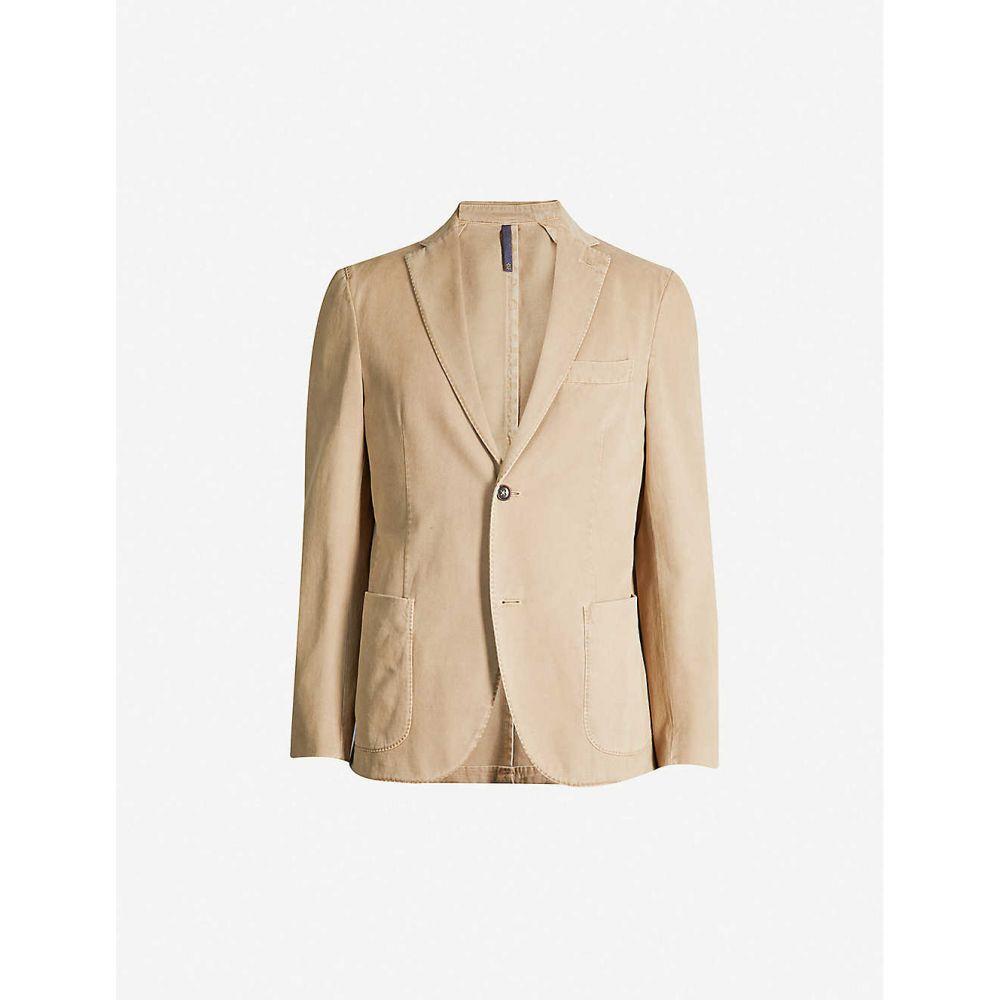 スローウエア SLOWEAR メンズ アウター スーツ・ジャケット【Cotton and cashmere-blend jacket】Beige medio