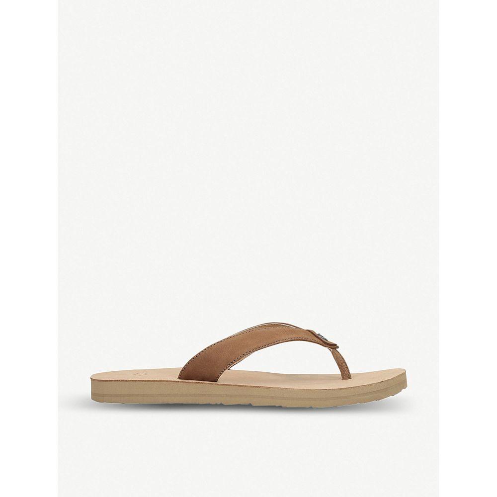 アグ UGG レディース シューズ・靴 ビーチサンダル【Tawney leather flip-flops】Brown