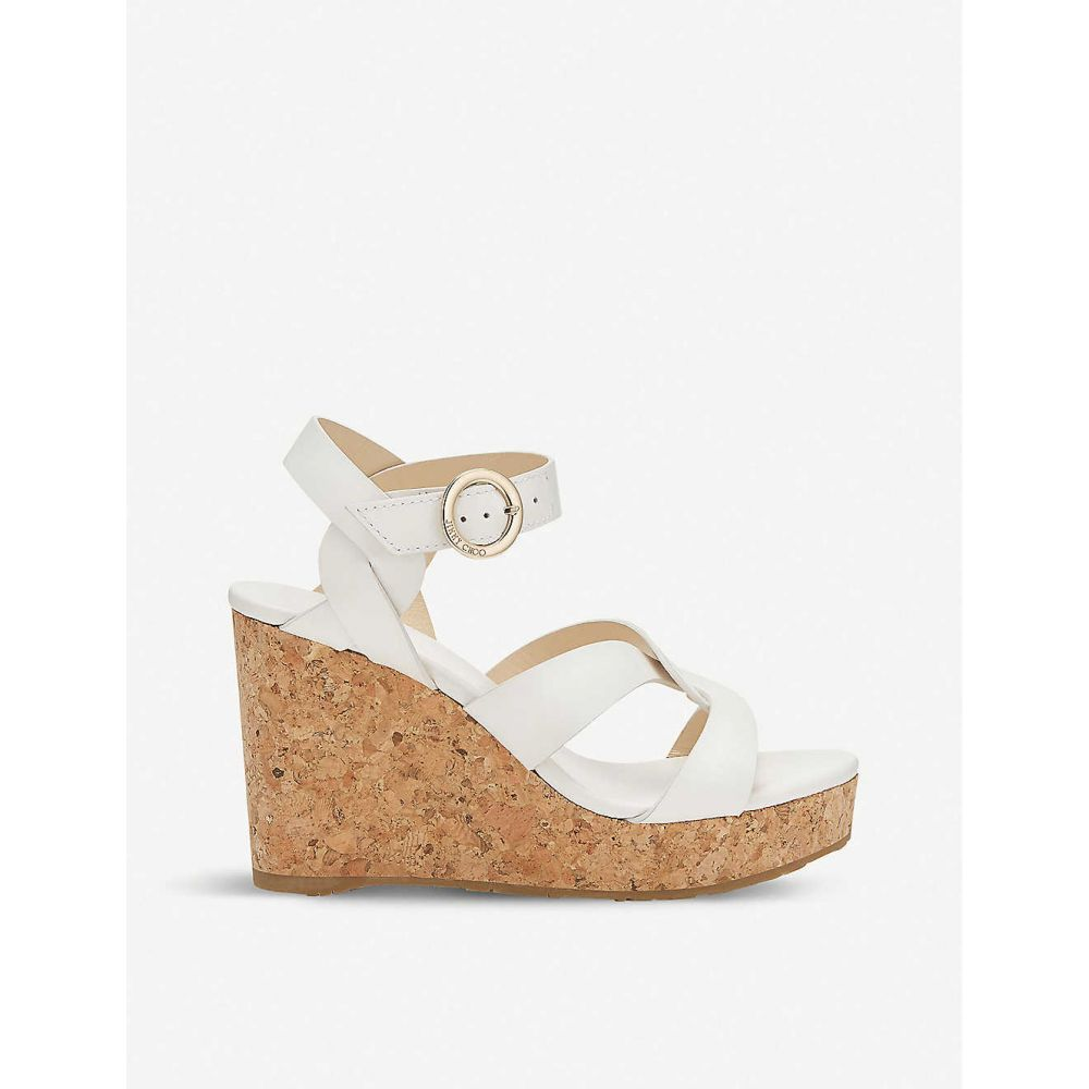 ジミー チュウ JIMMY CHOO レディース シューズ・靴 サンダル・ミュール【Aleili Vachetta leather wedge heels】Latte