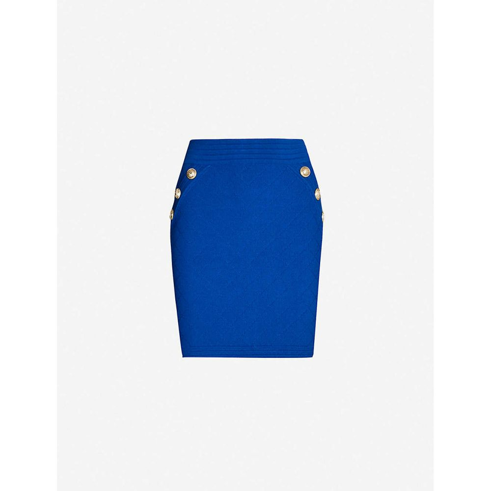 バルマン BALMAIN レディース スカート ミニスカート【High-rise woven mini skirt】Blue