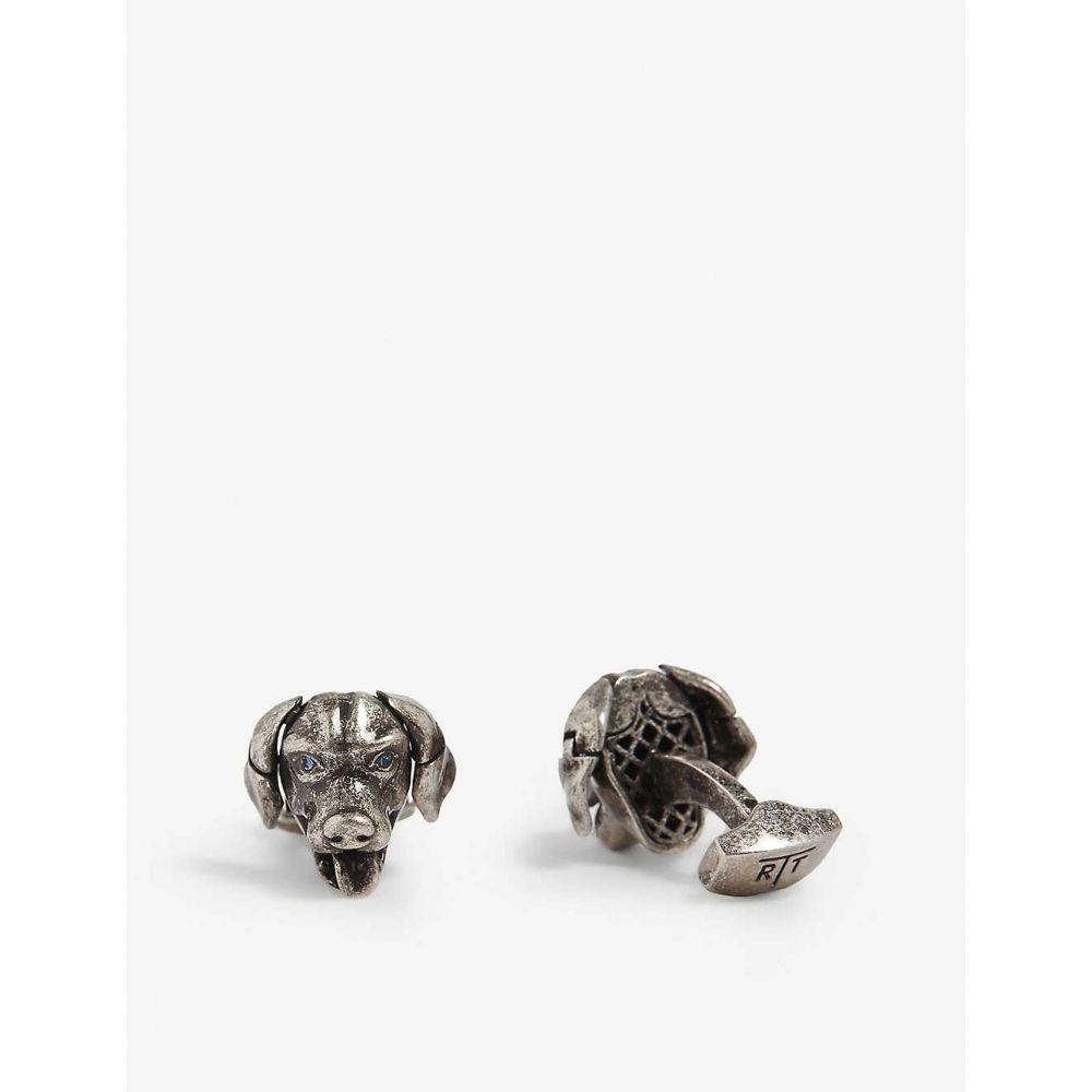 タテオシアン TATEOSSIAN メンズ カフス・カフリンクス【Dog cufflinks】Silver