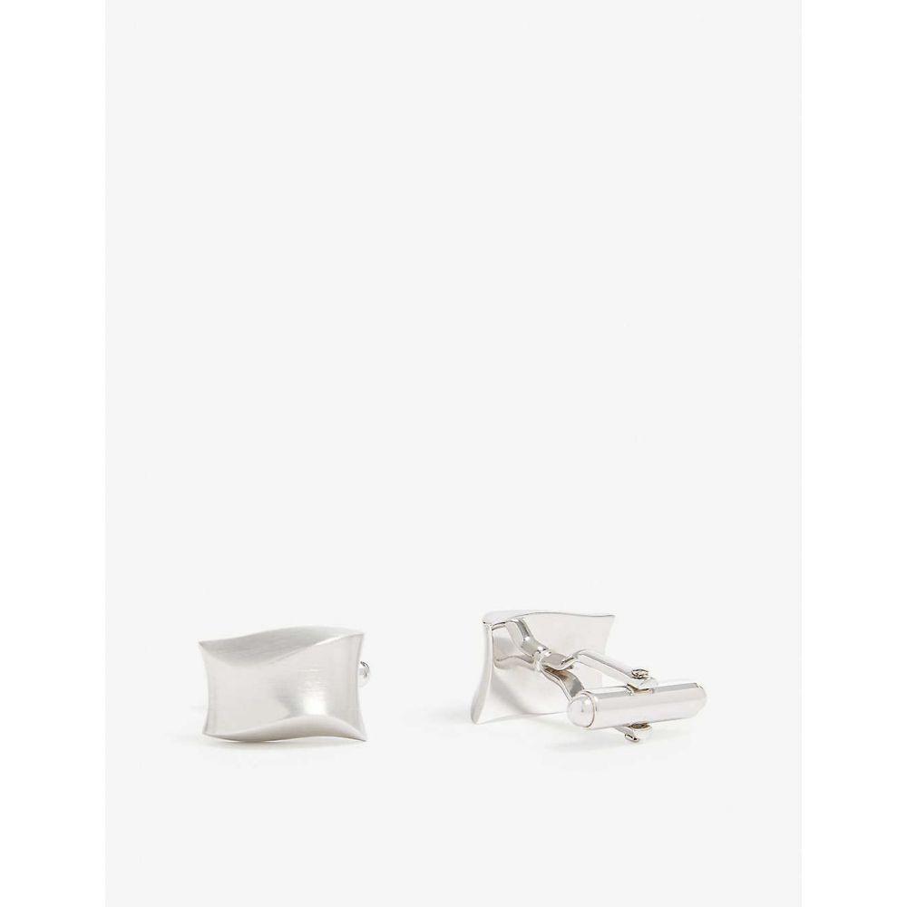 ランバン LANVIN メンズ カフス・カフリンクス【Wave silver-tone cufflinks】Silver
