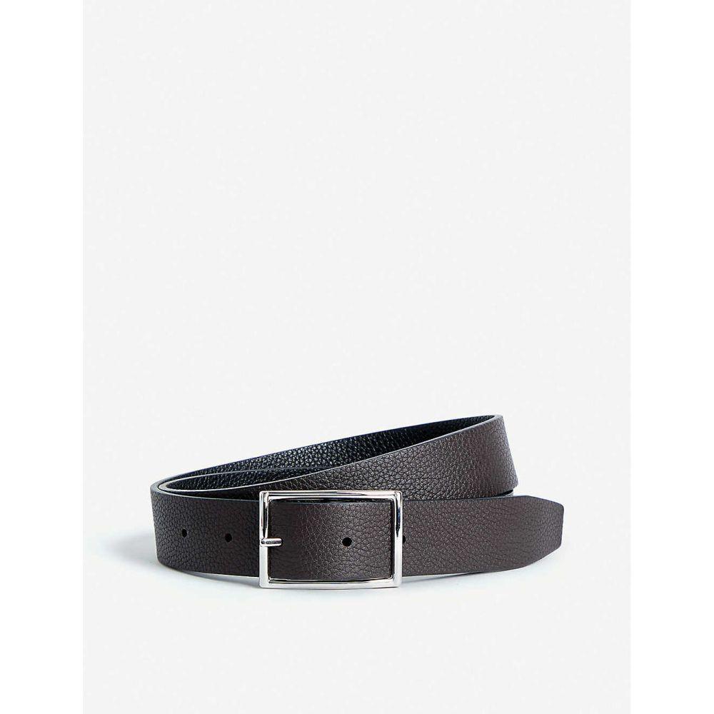 アンダーソンズ メンズ ファッション小物 ベルト 【サイズ交換無料】 アンダーソンズ ANDERSONS メンズ ベルト【Grained leather reversible belt】Black/brown