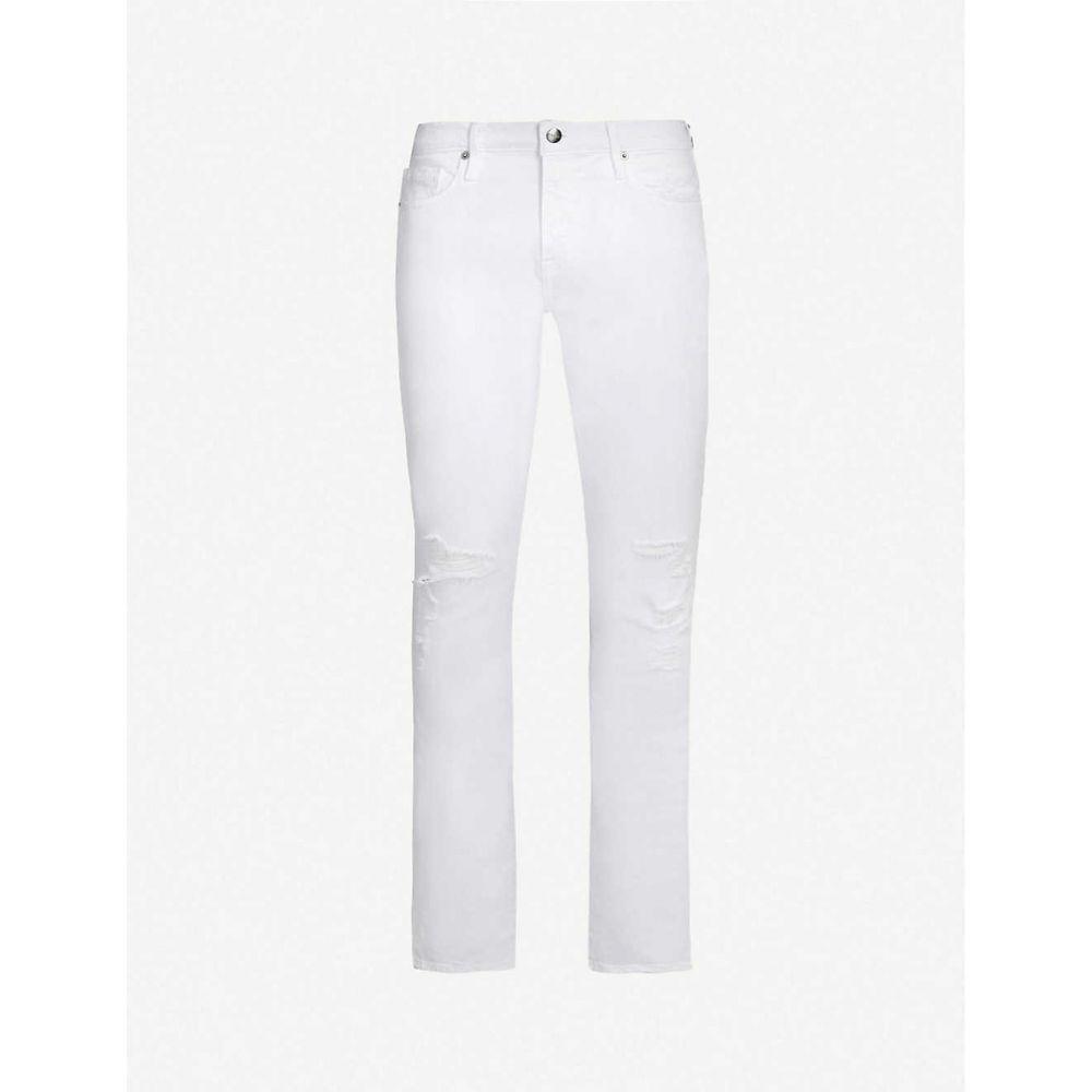 フレーム FRAME メンズ ボトムス・パンツ ジーンズ・デニム【L Homme ripped slim-fit skinny jeans】Blanc alley blay