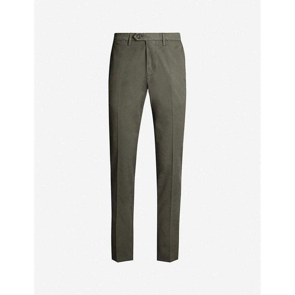 カナーリ CANALI メンズ ボトムス・パンツ チノパン【Regular-fit cotton-blend trousers】Green