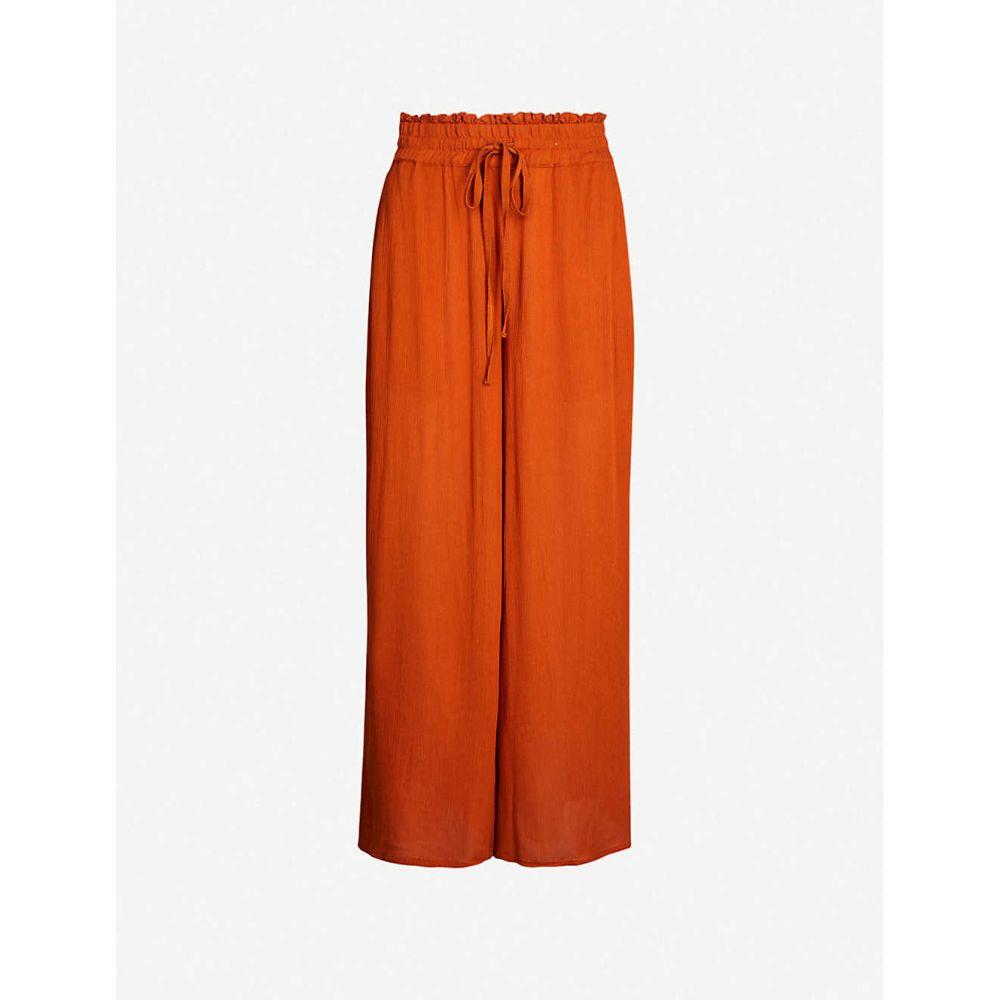 ホイッスルズ WHISTLES レディース ボトムス・パンツ クロップド【High-rise wide-leg cropped crepe trousers】Multi-coloured