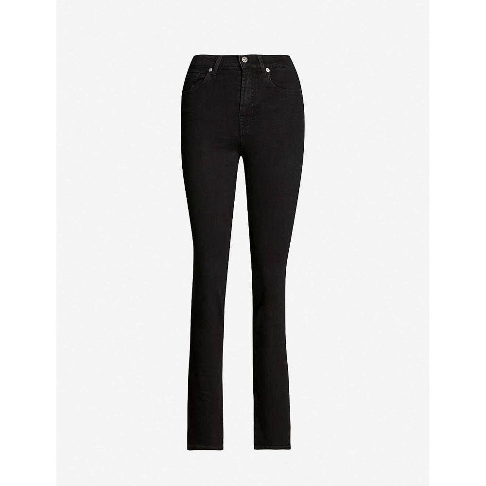 セブン レディース ボトムス・パンツ ジーンズ・デニム【B(air) straight skinny ALL rinsed black マンカインド MANKIND jeans】Bair フォー 7 mid-rise FOR オール