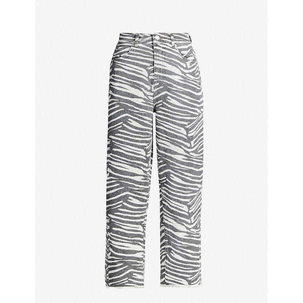 ホイッスルズ WHISTLES レディース ボトムス・パンツ ジーンズ・デニム【Zebra-print wide high-rise jeans】Multi-coloured
